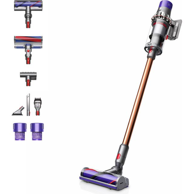 Dyson Cyclone V10 Cordless Vacuum Cleaner in Nickel / Yellow
