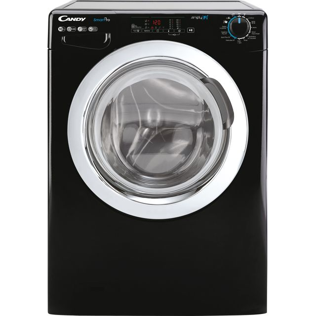 Candy Smart Pro CSO14103TWCBE Wifi Connected 10Kg Washing Machine with 1400 rpm - Black - A+++ Rated