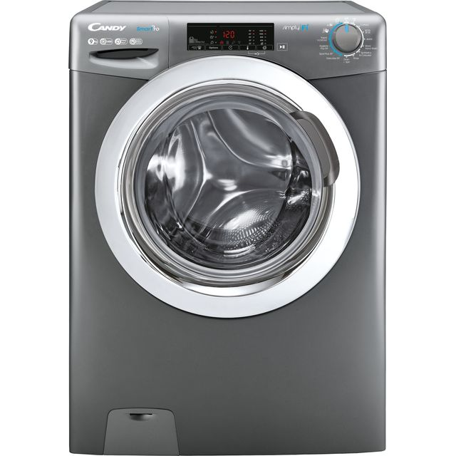 Candy Smart Pro CSO14103TWCGE Wifi Connected 10Kg Washing Machine with 1400 rpm - Graphite - C Rated