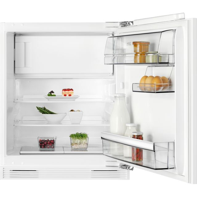 AEG SFB682F1AF Integrated Under Counter Fridge with Ice Box - Fixed Door Fixing Kit - White - F Rated
