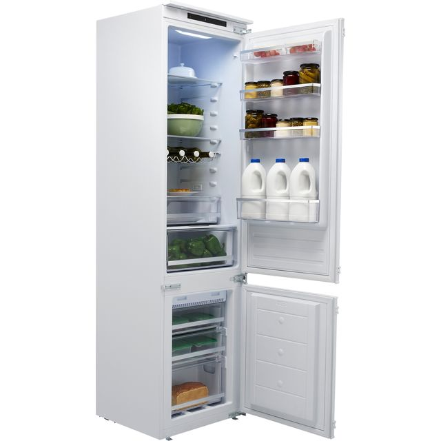 Hoover BHBF192FK Integrated 70/30 Frost Free Fridge Freezer with Sliding Door Fixing Kit - White - F Rated