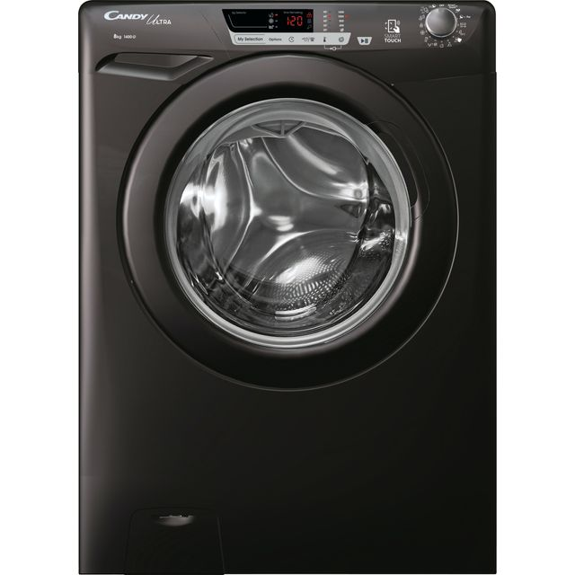 Candy Ultra HCU1482DBBE/1 8Kg Washing Machine with 1400 rpm - Black - D Rated
