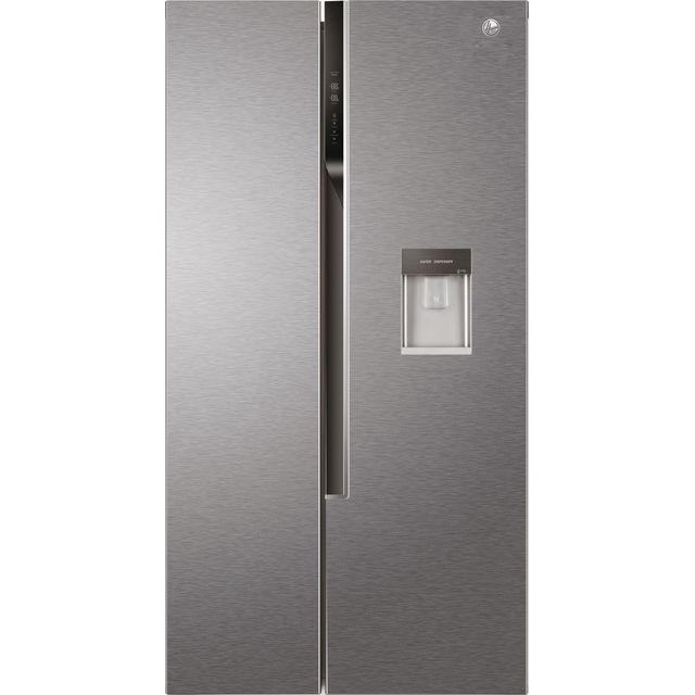 Hoover HHSWD918F1XK American Fridge Freezer - Silver