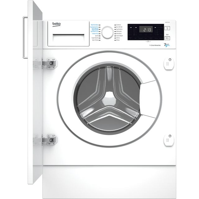 Beko WDIK754121 Integrated 7Kg / 5Kg Washer Dryer with 1400 rpm - White - D Rated