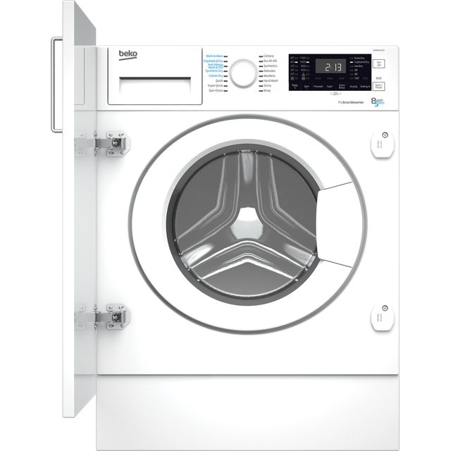 Beko WDIK854121F Integrated 8Kg / 5Kg Washer Dryer with 1400 rpm - White - D Rated