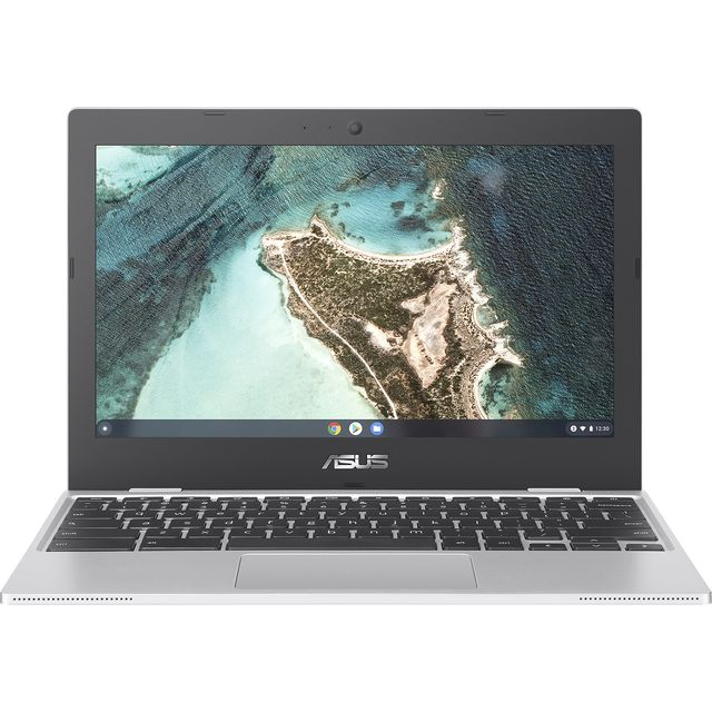 "Asus CX1100CNA 11.6"" Chromebook Laptop - Silver"