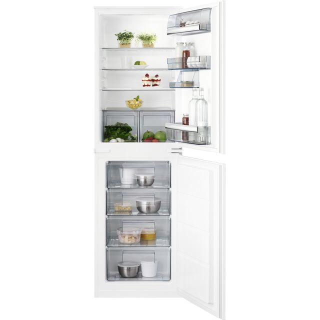 AEG SCB718F3LS Integrated Fridge Freezer with Sliding Door Fixing Kit - White - F Rated