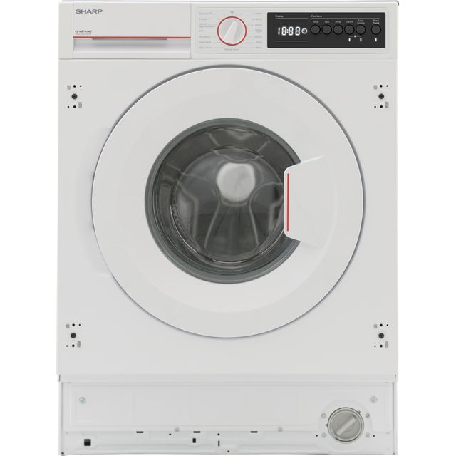 Sharp ES-NIB7141WD-EN Integrated 7Kg Washing Machine with 1400 rpm - White - D Rated