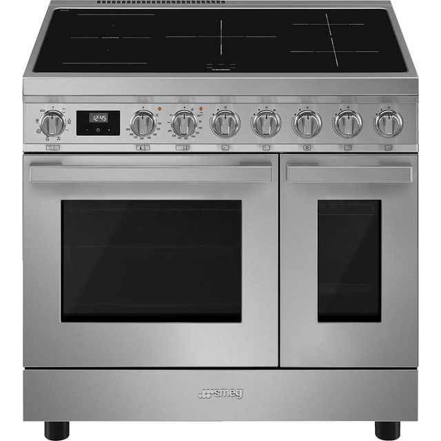 Smeg Portofino CPF92IMX Electric Range Cooker with Zone induction hob Hob - Stainless Steel - A Rated