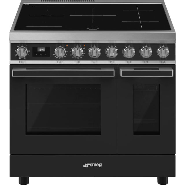 Smeg Portofino CPF92IMA Electric Range Cooker with Zone induction hob Hob - Anthracite - A Rated