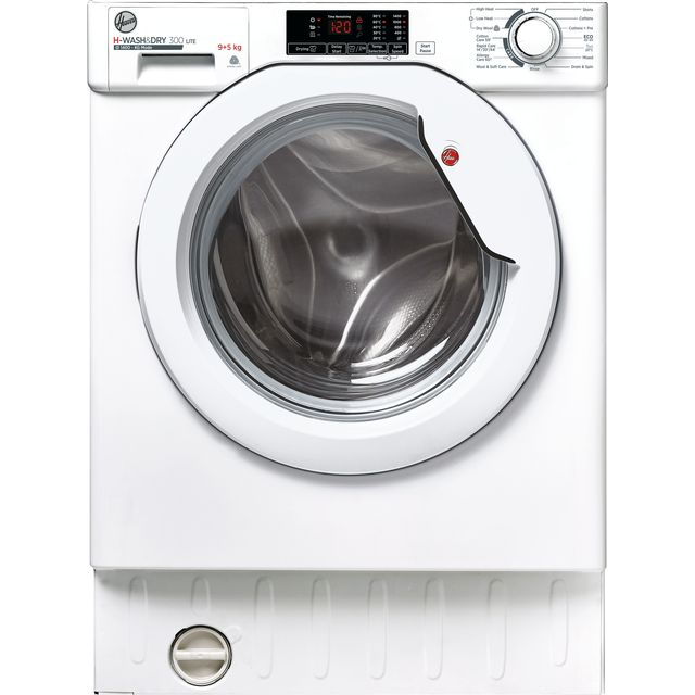 Hoover H-WASH&DRY 300 LITE HBD495D1E/1 Integrated 9Kg / 5Kg Washer Dryer with 1400 rpm - White - E/D Rated