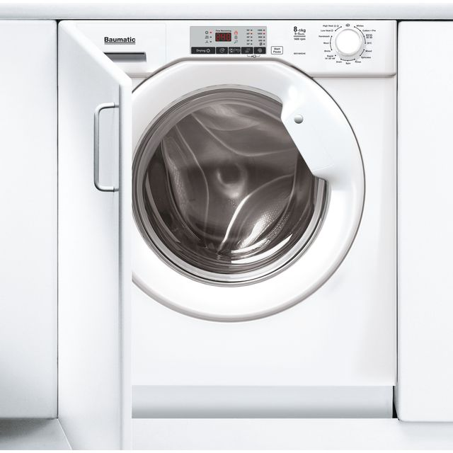 Image of Baumatic BDI1485D4E/1 Integrated 8Kg / 5Kg Washer Dryer - White - A Rated