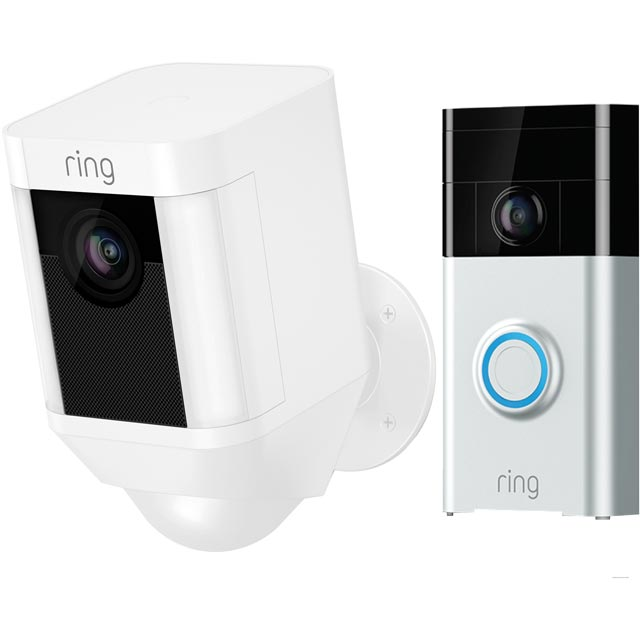 Ring Spotlight Battery Outdoor Cam including Ring Video Doorbell - White - 8SB1S7-WEU0BUN - 1