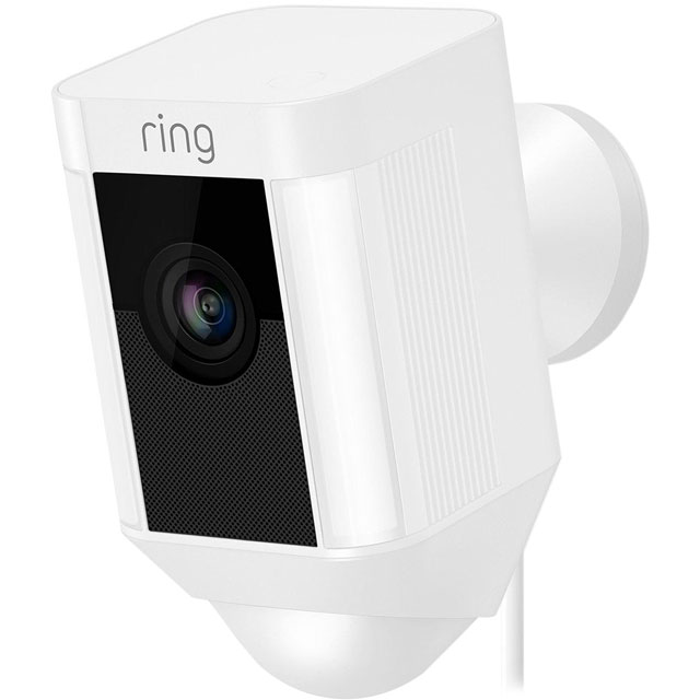Ring Spotlight Cam Wired Network Surveillance Cam - Full HD 1080p - White - 8SH2P7-WEU0 - 1