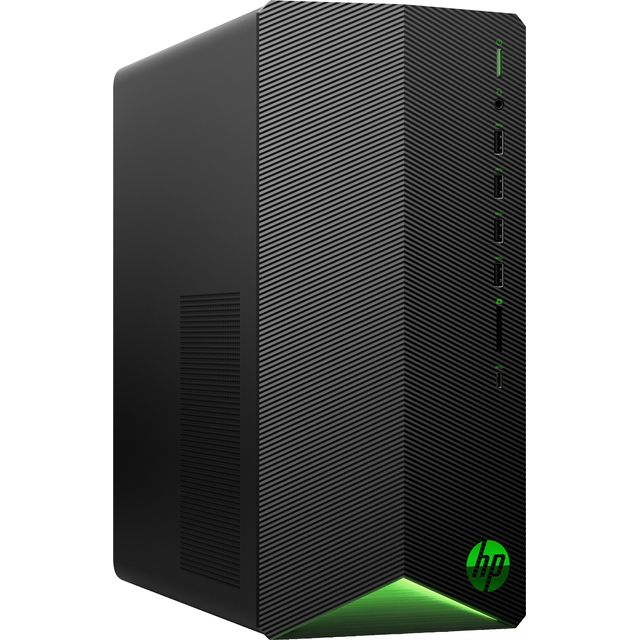 HP TG01-0005na Gaming Tower - Black / Green