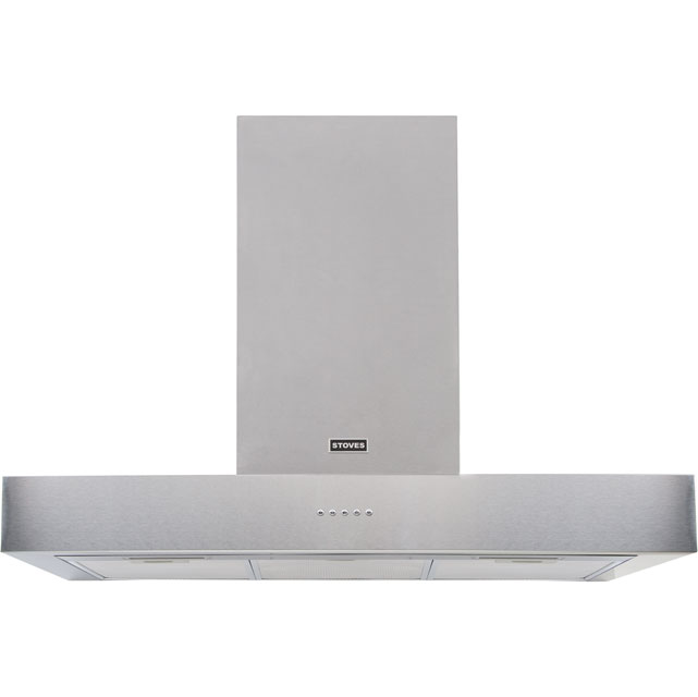 Stoves 900SterlingFlatMk2 90 cm Chimney Cooker Hood - Stainless Steel - C Rated