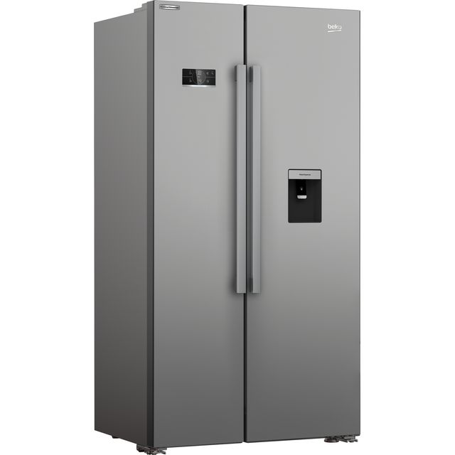 Beko HarvestFresh ASD2341VX American Fridge Freezer - Stainless Steel - F Rated