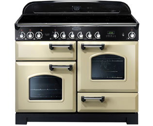 Rangemaster Classic Deluxe CDL110EICR/C 110cm Electric Range Cooker with Induction Hob - Cream / Chrome - A Rated