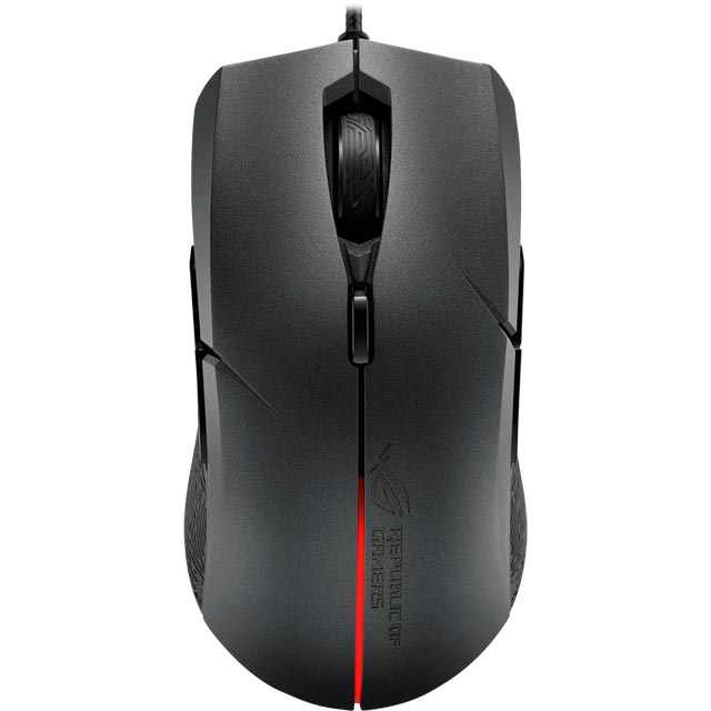 Asus ROG Strix Evolve Wired USB Optical Gaming Mouse - Black - 90MP00J0-B0UA00 - 1
