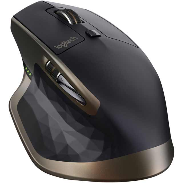 Logitech MX Master Wireless Bluetooth / USB Laser Mouse - Black