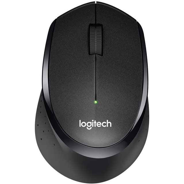 Logitech M330 Silent Plus Wireless USB Optical Mouse - Black - 910-004909 - 1