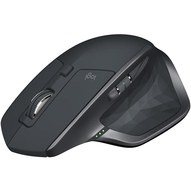 Logitech MX Master 2S Bluetooth / Wireless USB Laser Mouse - Grey
