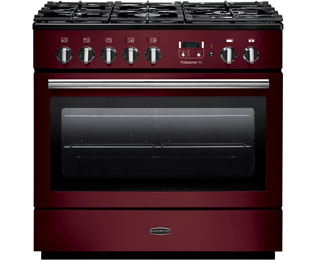 Rangemaster PROP90FXDFFCY/C Professional Plus FX 90cm Dual Fuel Range Cooker - Cranberry / Chrome - PROP90FXDFFCY/C_CY - 1