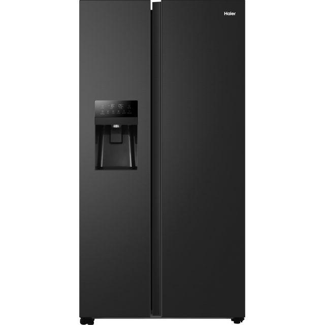 Haier HSOBPIF9183 American Fridge Freezer - Black - F Rated