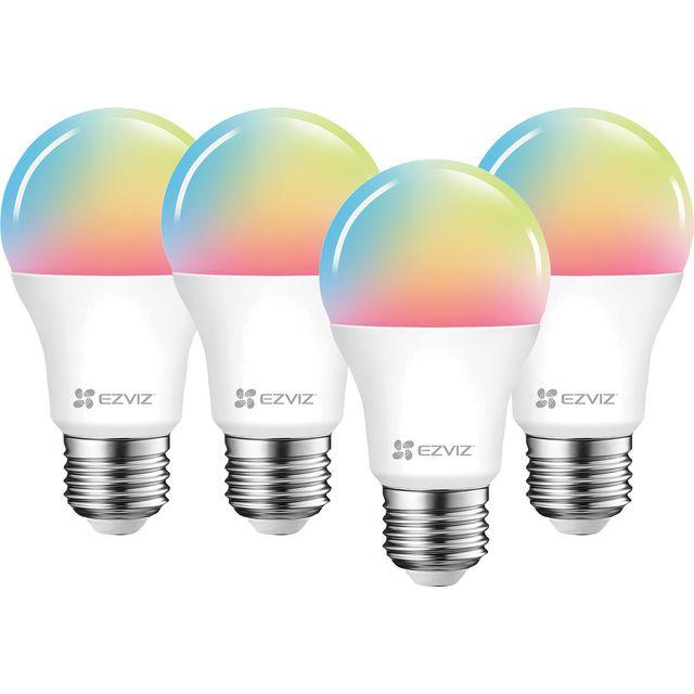 EZVIZ LB1 White and Colour E27 Smart Bulb - 4 Pack - A+ Rated