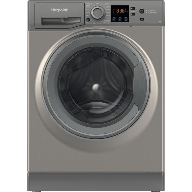 Hotpoint NSWM743UGGUKN 7Kg Washing Machine with 1400 rpm - Graphite - D Rated