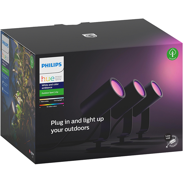Philips Hue White & Colour Ambiance Lily Outdoor Spot Light - A+ Rated - 915005630101 - 1