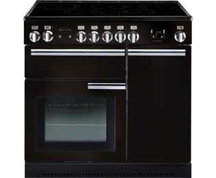 Rangemaster Professional Plus PROP90EIGB/C 90cm Electric Range Cooker with Induction Hob - Black - A/A Rated - PROP90EIGB/C_BK - 1