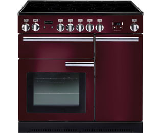 Rangemaster Professional Plus PROP90EICY/C 90cm Electric Range Cooker with Induction Hob - Cranberry - A/A Rated - PROP90EICY/C_CB - 1