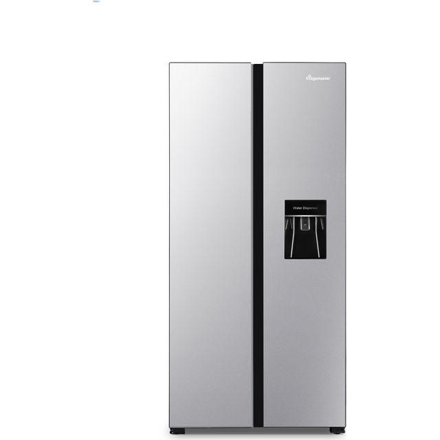 Fridgemaster MS83430DFF American Fridge Freezer - Silver - F Rated