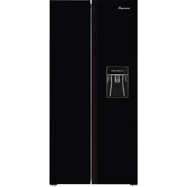 Fridgemaster MS83430BFF American Fridge Freezer - Black - F Rated