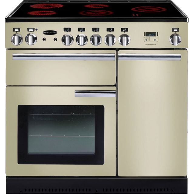Rangemaster Professional Plus PROP90ECCR/C 90cm Electric Range Cooker with Ceramic Hob - Cream - A/A Rated