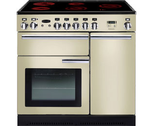 Rangemaster Professional Plus PROP90ECCR/C 90cm Electric Range Cooker with Ceramic Hob - Cream - A/A Rated - PROP90ECCR/C_CR - 1
