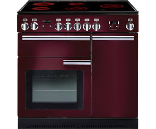 Rangemaster Professional Plus PROP90ECCY/C 90cm Electric Range Cooker with Ceramic Hob - Cranberry - A/A Rated - PROP90ECCY/C_CB - 1