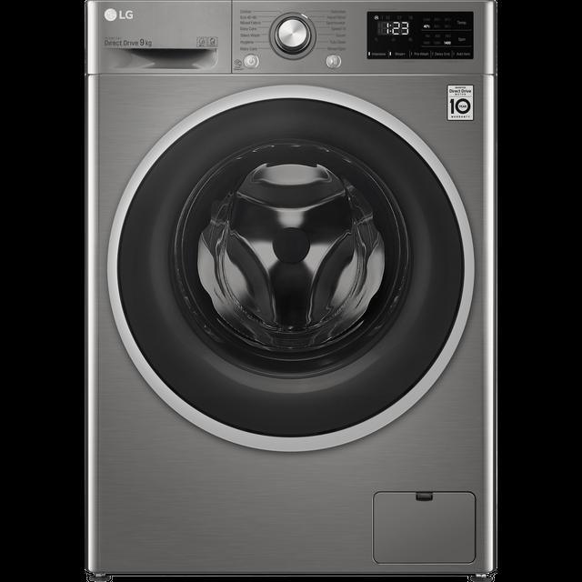 LG FAV309SNE 9Kg Washing Machine with 1400 rpm - Graphite - B Rated