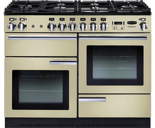 Rangemaster Professional Plus Gas Range Cooker - Cream / Chrome - A/A Rated