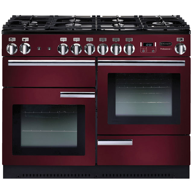 Rangemaster Professional Plus PROP110NGFCY/C 110cm Gas Range Cooker - Cranberry / Chrome - A+/A+ Rated - PROP110NGFCY/C_CB - 1