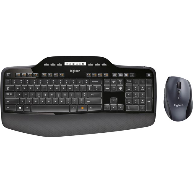 Logitech MK710 Wireless USB Keyboard with Optical Mouse - Black