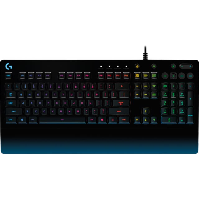 Logitech G213 Prodigy Wired USB Gaming Keyboard - Black