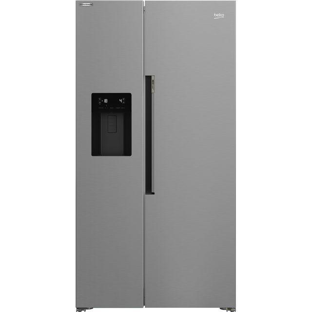 Beko HarvestFresh ASP34B32VPS American Fridge Freezer - Stainless Steel - E Rated