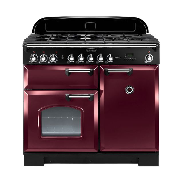Rangemaster Classic Deluxe CDL100DFFCY/C 100cm Dual Fuel Range Cooker - Cranberry - A Rated - CDL100DFFCY/C_CB - 1