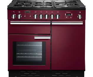 Rangemaster Professional Plus PROP100DFFCY/C 100cm Dual Fuel Range Cooker - Cranberry - A/A Rated