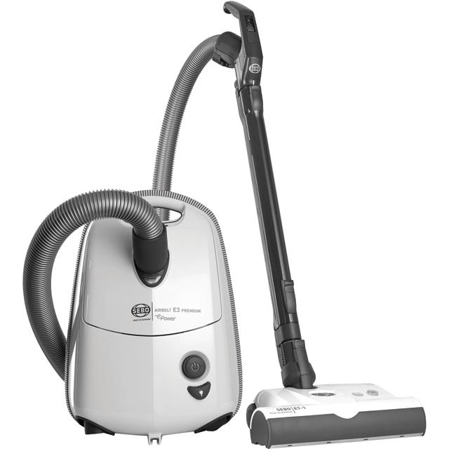 Sebo Airbelt E3 Premium ePower 92655GB Cylinder Vacuum Cleaner in White