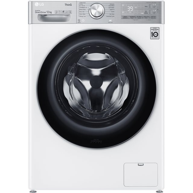 LG V11 F4V1112WTSA Wifi Connected 12Kg Washing Machine with 1400 rpm - White - A Rated