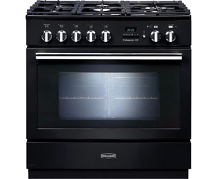 Rangemaster Professional Plus FXP 90cm Dual Fuel Range Cooker - Black - A Rated