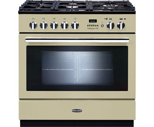 Rangemaster Professional Plus FXP PROP90FXPDFFCR/C 90cm Dual Fuel Range Cooker - Cream - A Rated